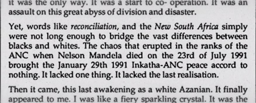 Text book written with Mandela being dead on Jan 29th 1991