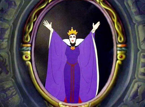 Evil Queen in the mirror