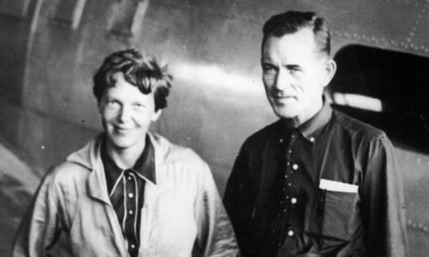 Earhart and Noonan before the flight around the world
