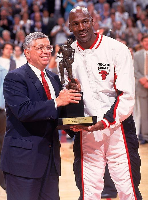 Michael Jordan and David stern image