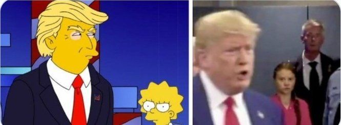 Lisa and Greta struck the similar post after seeing Trump