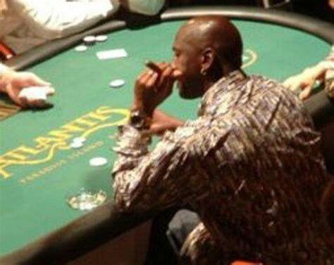 Michael Jordan playing poker in casino
