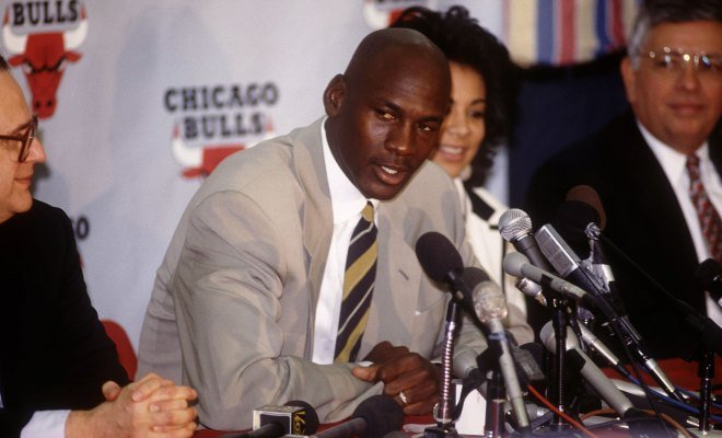 michael Jordan first retirement conference