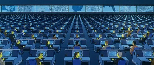 From Simpsons movie, NSA spying.