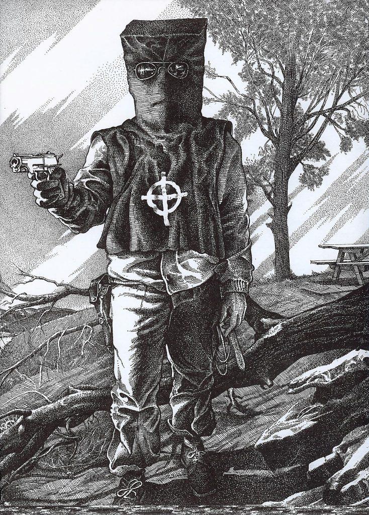 Zodiac's executioner mask and zodiac sign